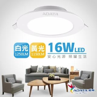 【ADATA 威剛】16W 超薄型崁燈(標準 15cm 崁入孔)