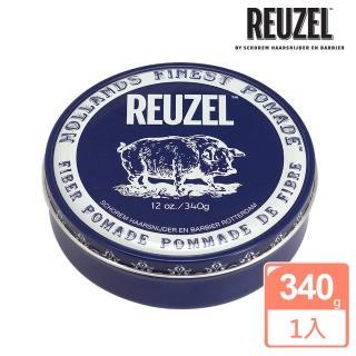 【REUZEL】Fiber Pomade 深藍豬強力纖維級水性髮泥(340g)