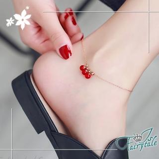 【伊飾童話】紅莓氣泡*玫瑰金鈦鋼手腳鍊