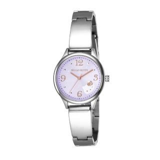 【HELLO KITTY】凱蒂貓 時尚星鑽手錶(淺紫/銀 LK705LWVA)
