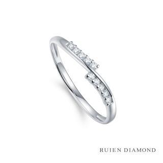 【RUIEN DIAMOND 瑞恩鑽石】真鑽7分 鑽石戒指 女款 線戒(18k白金 遇見愛)