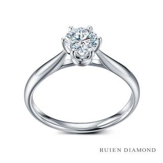 【RUIEN DIAMOND 瑞恩鑽石】GIA30分 D VVS2 3EX(18K白金 花簇 鑽石婚戒)