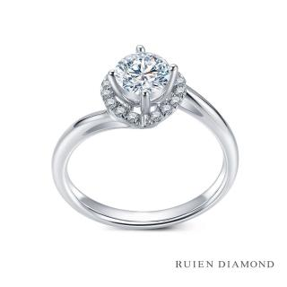 【RUIEN DIAMOND 瑞恩鑽石】GIA50分 D VS1 3EX(18K白金 掌心 鑽石婚戒)