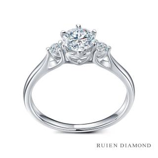 【RUIEN DIAMOND 瑞恩鑽石】GIA50分 D VS2 3EX(18K白金 三世之約 鑽石婚戒)