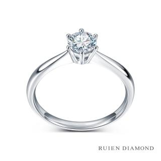 【RUIEN DIAMOND 瑞恩鑽石】GIA50分 D VS1 3EX(18K白金 典愛 鑽石婚戒)