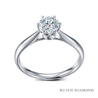 【RUIEN DIAMOND 瑞恩鑽石】GIA50分 D VVS1 3EX(18K白金 花簇 鑽石婚戒)