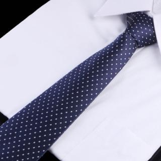 【拉福】點點8CM寬版領帶拉鍊領帶