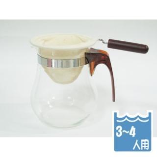 【Pearl Horse 寶馬】寶馬牌法蘭絨手柄咖啡濾網3-4人×4入