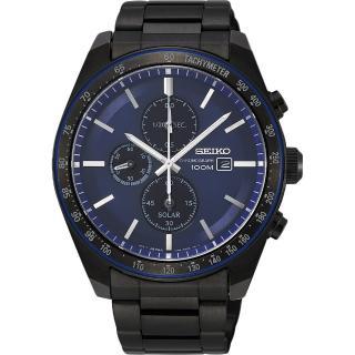 【SEIKO 精工】Criteria 太陽能台灣獨賣計時碼錶(V176-0AZ0A  SSC731P1)