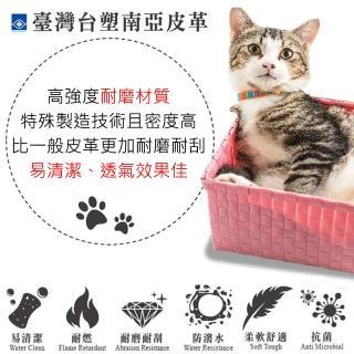 【ASSARI】露西台塑南亞貓抓皮沙發床(168cm)