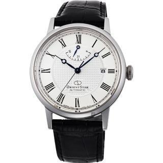 【ORIENT 東方錶】東方之星 CLASSIC 羅馬機械錶-銀x黑/38.7mm(RE-AU0002S)