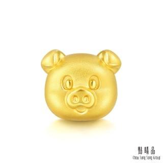 【點睛品】Charme 幸福萌豬 黃金串珠