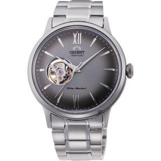 【ORIENT 東方錶】開芯小鏤空機械錶-灰x銀/40.5mm(RA-AG0029N)