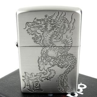 【Zippo】日系~Dragon-龍紋蝕刻圖案加工打火機