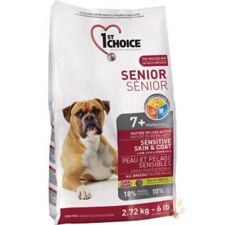 【1stChoice 瑪丁】第一優鮮犬糧《全犬種高齡犬-羊肉+鯡魚配方》12kg(贈 外出飼料包*2)