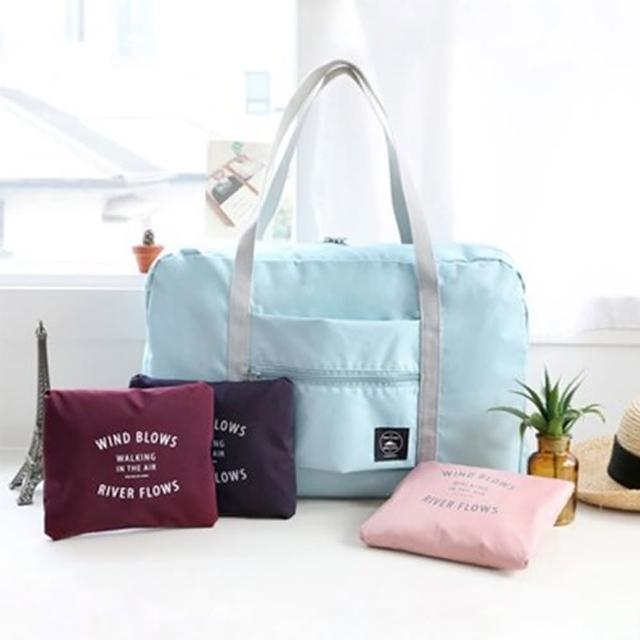 多功能可折疊行李拉桿包手提旅行袋(2入)/