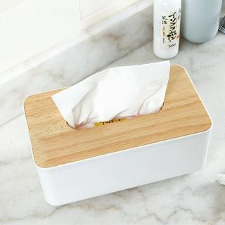 【E.City】北歐風平口木蓋質感紙巾盒(桌面收納最佳幫手)