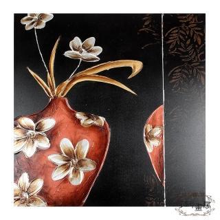 【御畫房】手繪無框油畫-春花秋月 80x80cm