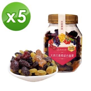 【長榮生醫】L-阿拉伯糖天然花青素綜合莓果嚐鮮組(綜合莓果*5罐)