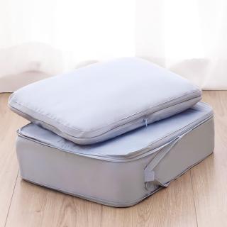 【UNIQE】豪華大型衣物壓縮收納袋二件組  完整收納 出國旅行 旅遊出差 行李箱分類(大型衣物收納二件組)