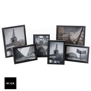 【HOLA】HOLA 壁掛/桌立兩用相框黑色 6入組