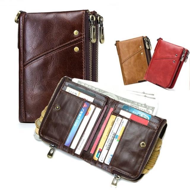 【玩皮工坊】真皮頭層牛皮12卡位男士皮夾皮包錢夾錢包短夾男夾LH113/