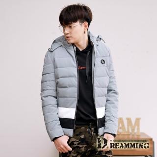 【Dreamming】時尚圓徽73保暖厚鋪棉連帽外套(共二色)