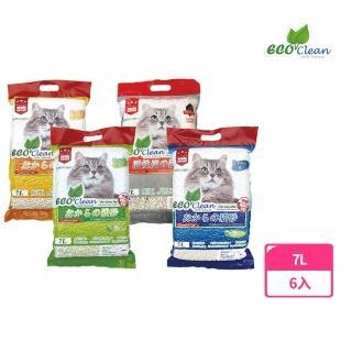 【ECO艾可】豆腐貓砂 7L - 6入 原味/綠茶/玉米(貓砂)