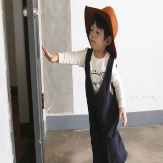 【韓國 Mini Dressing】兒童造型帽_素面咖啡(MDH004)