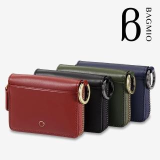 【BAGMIO】牛皮雙卡鑰匙零錢包(vigor 系列)