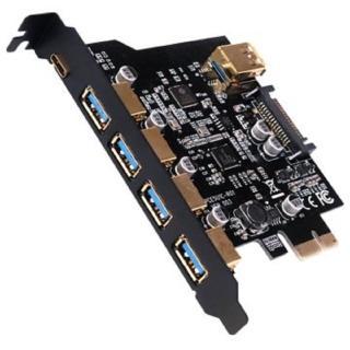 【伽利略】PCI-E USB 3.0 5+1C 6埠卡(PTU314A)