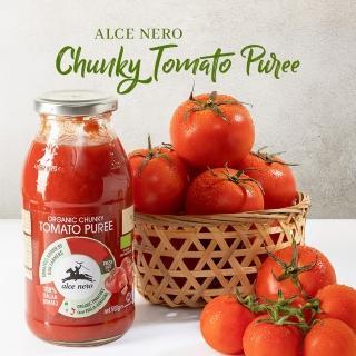 【alce nero 有機尼諾】有機顆粒蕃茄醬500g(三入組)