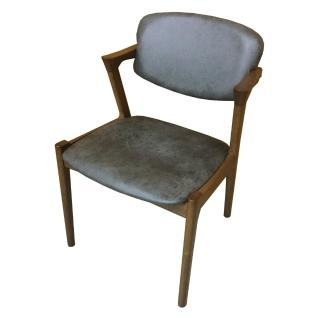 【AS】Erin仿古皮面實木餐椅-54x58x78cm