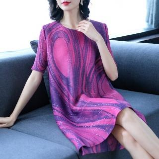 【羽生摺衣】京都風情-曲線貼鑽洋裝(共二色)