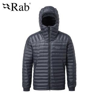 【英國 RAB】Microlight Summit Jacket 高透氣羽絨連帽外套 男款 鋼鐵藍 #QDA88(羽絨外套)
