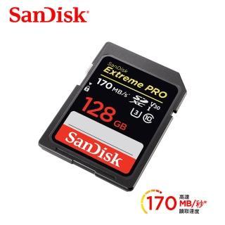 【SanDisk 晟碟】Extreme Pro 128G SDXC UHS-I記憶卡讀170MB 寫90MB(全新高速規格 讀170MB/s 寫90MB\s)