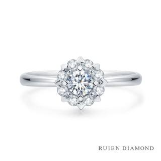 【RUIEN DIAMOND】GIA30分 D VVS2 3EX(18K白金 鑽石婚戒 心緣)