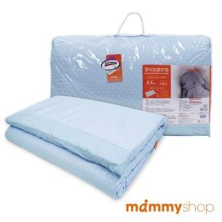 【媽咪小站】嬰兒乳膠加厚大床墊(水玉藍)