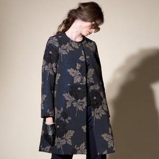 【PANGCHI 龐吉】瑰麗緹花長版大衣(1722023-35)