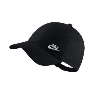 【NIKE 耐吉】帽子 NSW Heritage 86 Futura 可調式帽圍 經典百搭款 運動休閒 六片帽 黑白(AO8662-010)