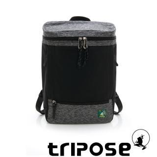 【tripose】微旅系列 岩紋x尼龍混紡後背包(黑色)