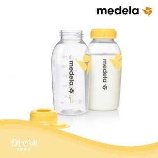 【美樂Medela】印花貯奶瓶組250ml 2入組(★不含雙酚A/BPA free、不含DEHP★)