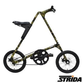 【STRiDA】速立達16吋MULTICAM迷彩版皮帶碟剎三角形折疊單車-叢林迷彩
