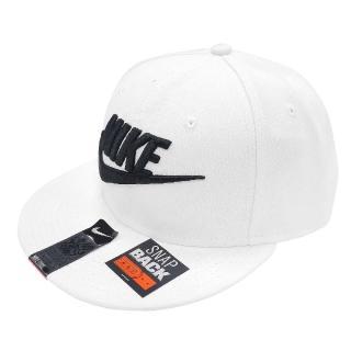 【NIKE 耐吉】棒球帽 Futura Snapback 男女款 可調式 Swoosh 電繡LOGO 白 黑(584169-100)