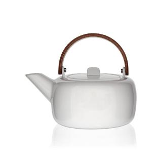 【smith&hsu】陶瓷方圓沖茶壺(曲木把手)