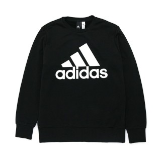 【adidas 愛迪達】男女款 連帽上衣 帽T 大學T 黑色(-)
