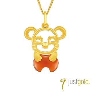 【Just Gold 鎮金店】吉祥寶寶十二生肖純金系列 黃金墜子-鼠