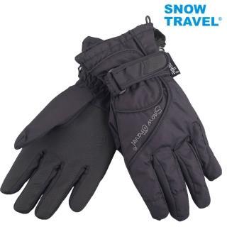 【SNOWTRAVEL】英國進口PORELLE防水保暖透氣薄手套AR-52黑色(滑雪/騎車/戶外/雨天)