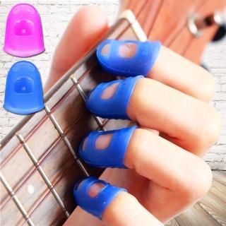 【美佳音樂】按弦止痛 左手手指 矽膠 吉他手指套-4指/套(吉他/烏克麗麗/電吉他/貝斯/小提琴皆可用)