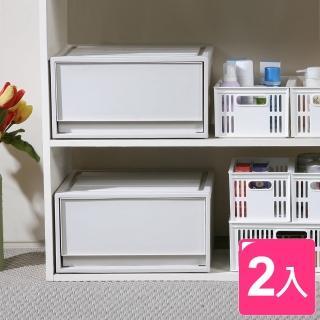 【真心良品】丹波單抽式整理箱20L(2入)